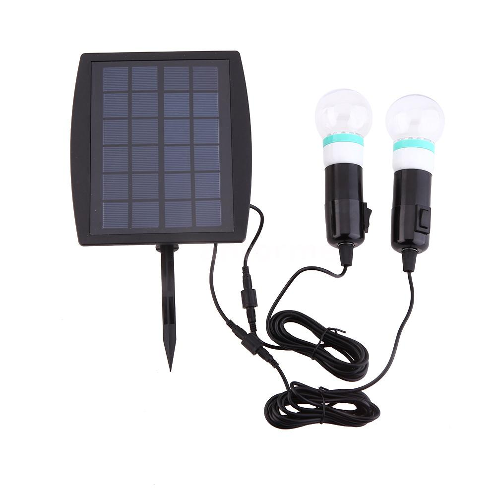 E27 Solar Battery Powered 22 Led Camping Light Outdoor: High Power Solar Powered LED Bulb Outdoor Garden Corridor