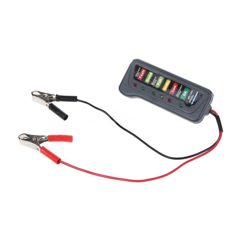 tirol 12v led batterie de voiture v lo lectrique testeur batterie. Black Bedroom Furniture Sets. Home Design Ideas