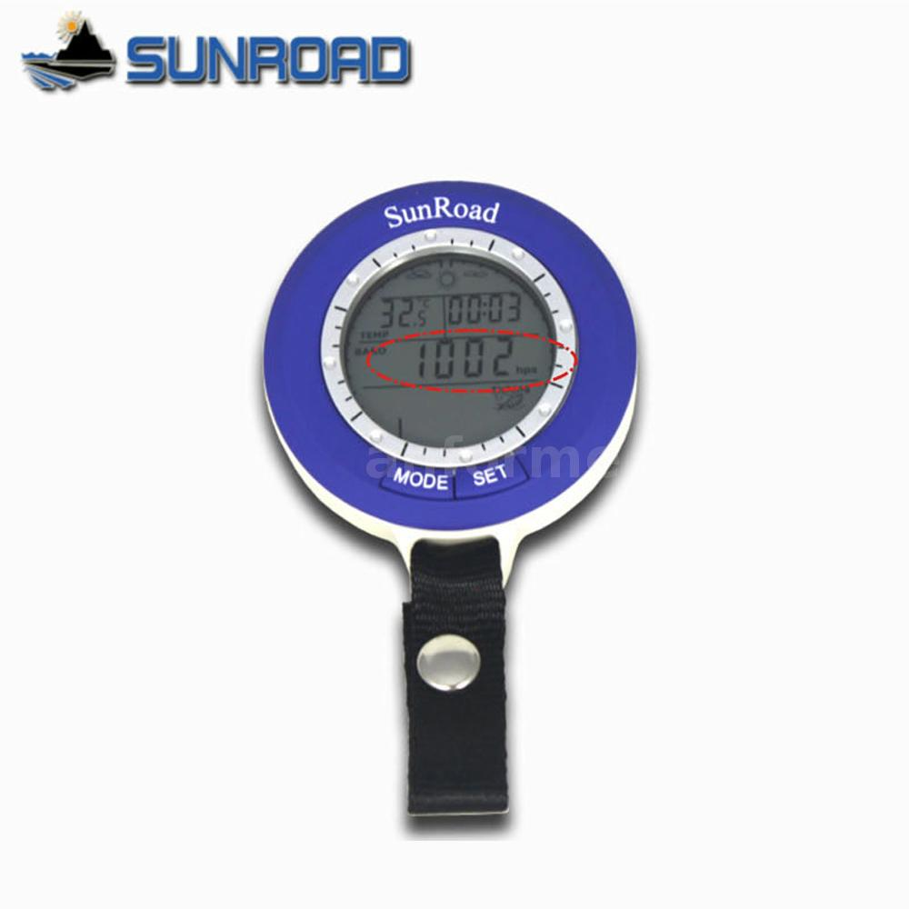 Sunroad sr204 mini lcd digital fishing barometer altimeter for Barometric pressure forecast for fishing