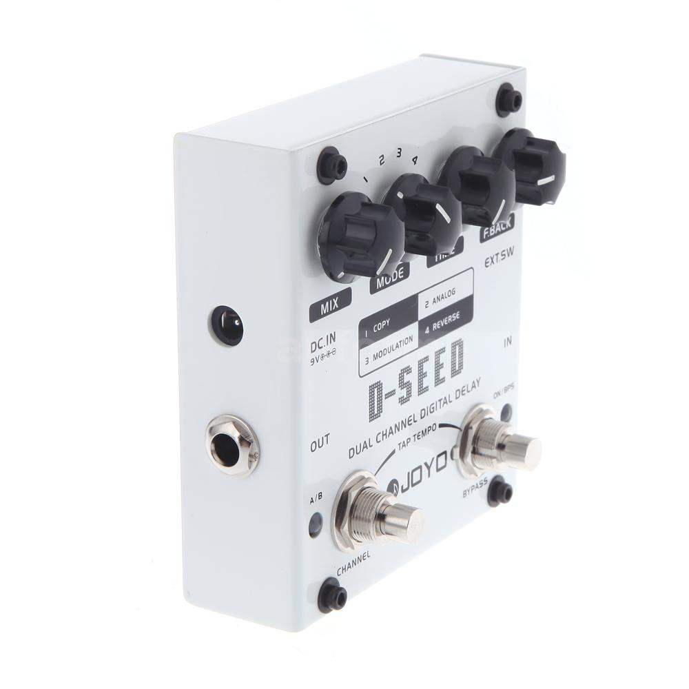 New Joyo Dual Channel Digital Delay Guitar Effect Pedal Four Modes Circuits Gt Boss Dd 2 Schematic Diagram D Seed Means Is A Very Flexible With Build In Tap Tempo Function Which Can Be Independently Operated At