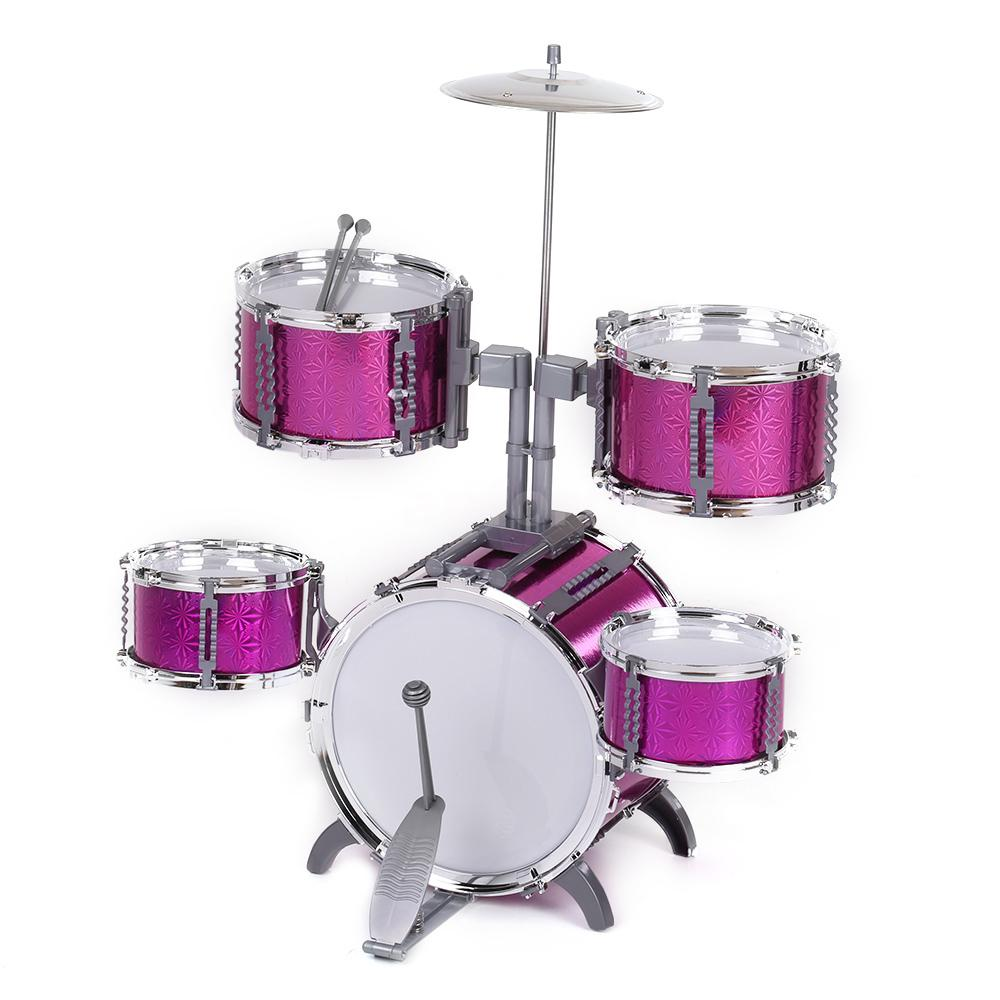 586 103 Drum Set Kids 5 Drums With Small Cymbal Stool Drum