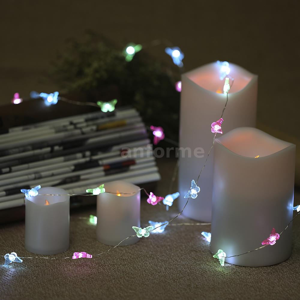 40 Led Outdoor Battery Powered String Light Garden Christmas Party Fairy Lamp Ebay