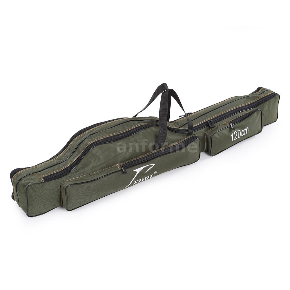 Portable Fishing Rod Carrier Pole Tools Storage Bag Gear