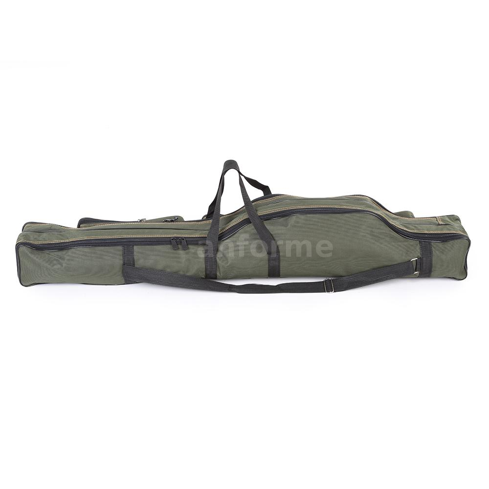 Portable fishing rod carrier pole tools storage bag gear for Fishing rod case carrier storage bag