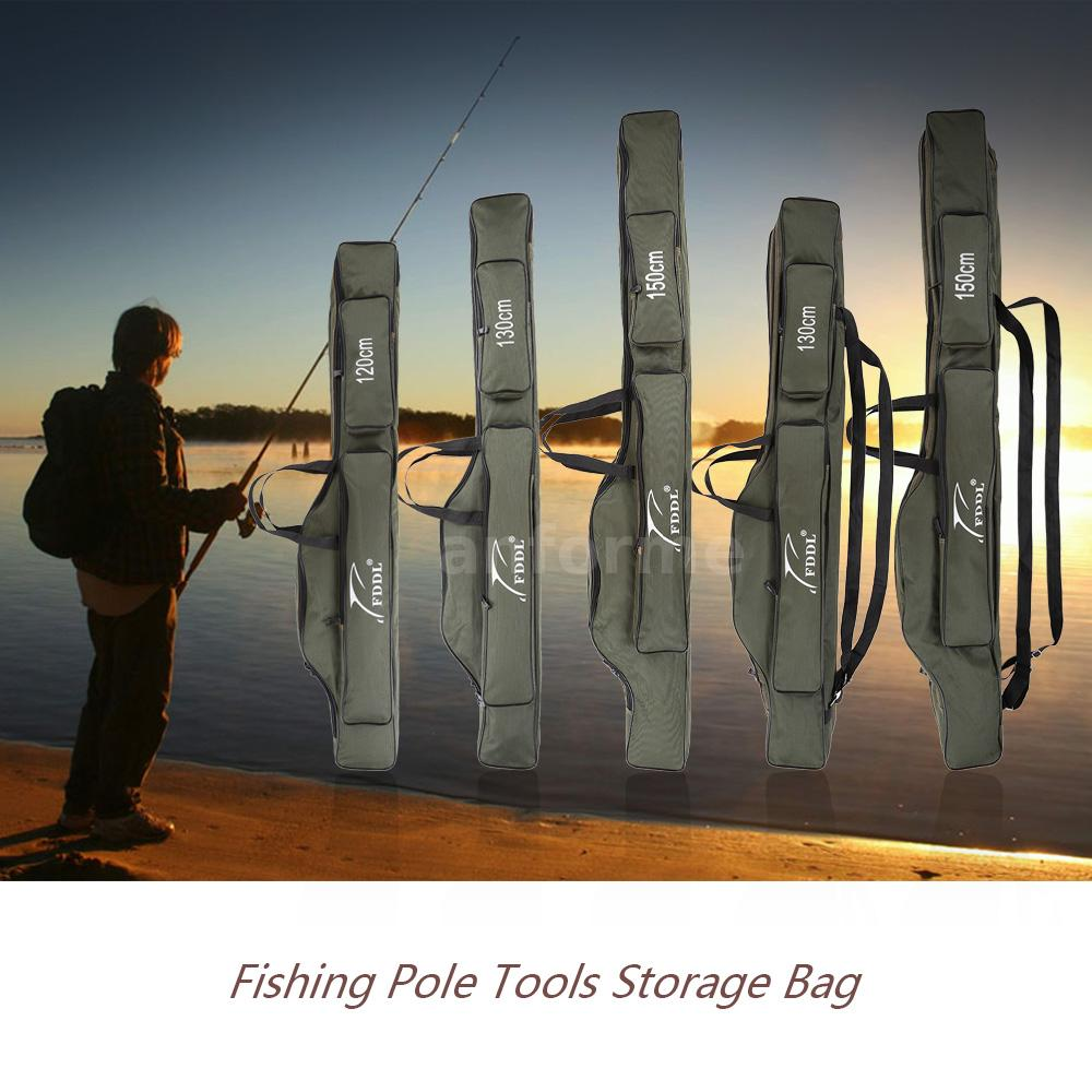 Portable fishing rod carrier pole tools storage bag gear for Fishing rod tote