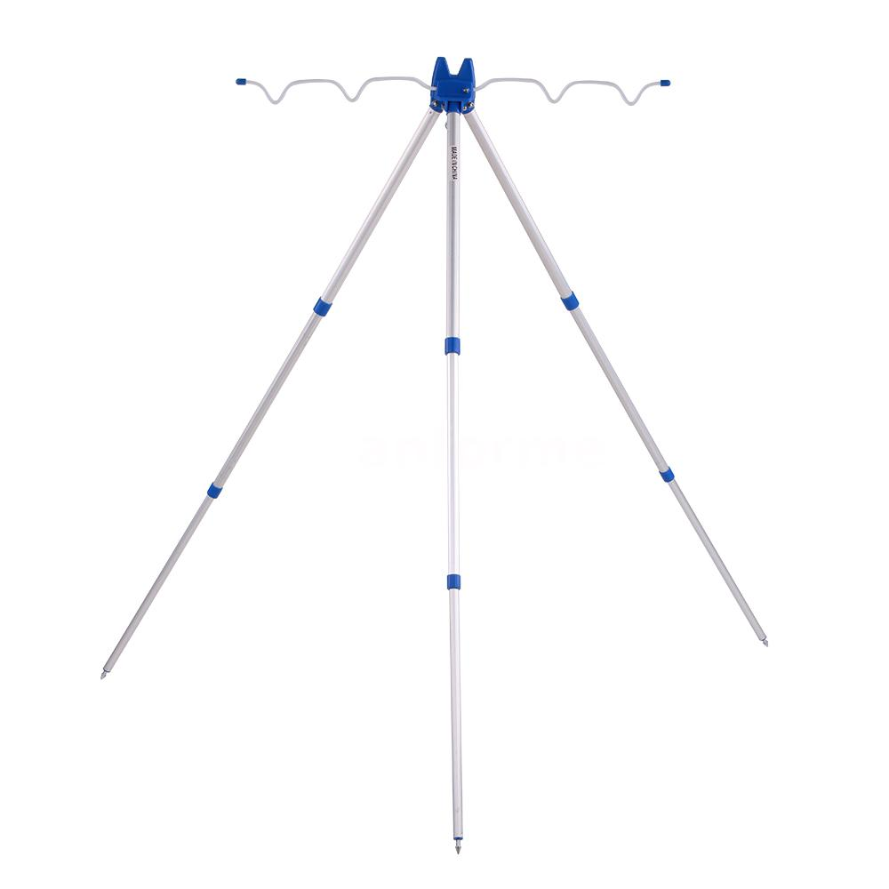 3 Sections Telescopic Fishing Rod Stand Rest Sea Fishing ...