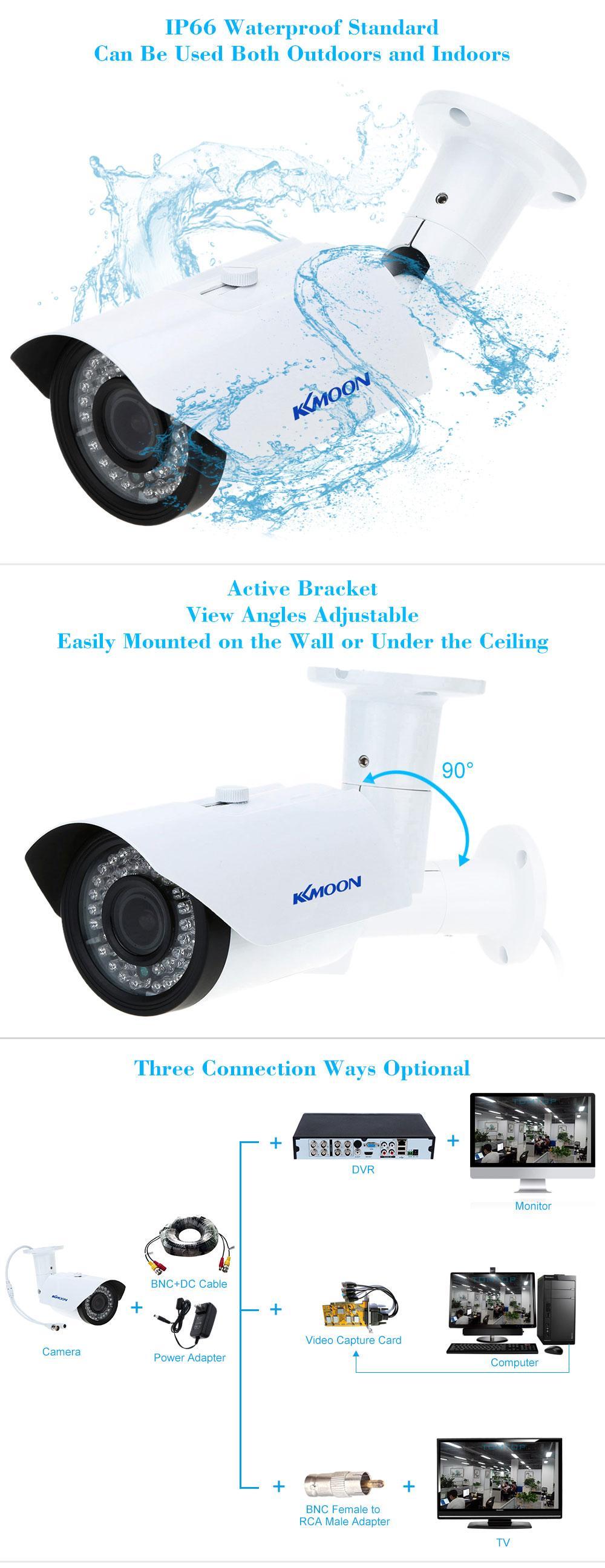 kkmoon cctv au en 1200tvl berwachungskamera ir cut. Black Bedroom Furniture Sets. Home Design Ideas
